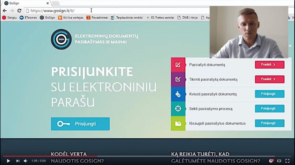 VIDEO: Įmonės registracijos adreso keitimas internetu